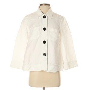 Lafayette 148 New York White Oversized Jacket